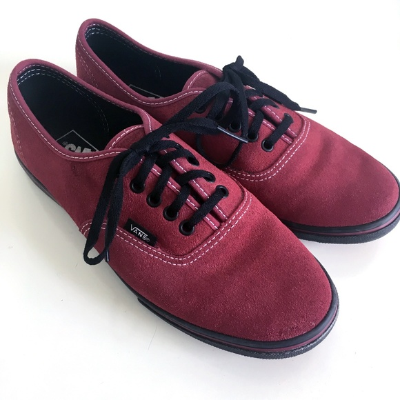 Vans Shoes | Nwob Maroon Suede Vans W